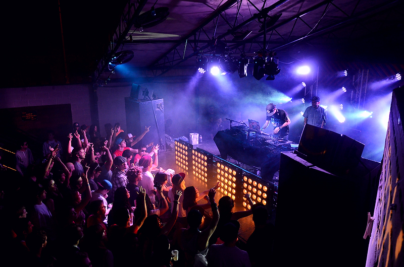 <p>Codes, a dance music DJ, begins the SXSW showcase presented by AM Only, an electronic music booking agency, at Mohawk on Friday night. The 10-day film, interactive, and music festival came to a close during the early morning hours of today.</p>