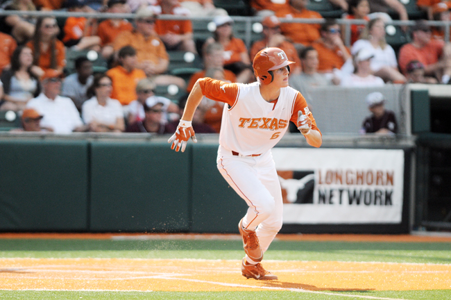 <p>Erich Weiss went 2-for-4 and had two RBIs during Texas' 5-2 win over Texas A&M Prairie View.</p>