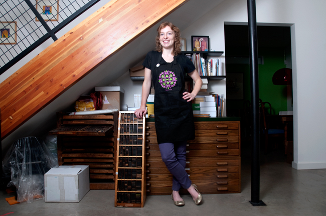 <p>Sarah Wymer is a graphic designer and printer whose work centers around the use of her Vandercook letterpress printer in the studio she o</p>