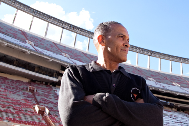 <p>Julius Whittier was the first African-American to play for Texas' football team.  The San Antonio native was a lineman and played for the team the year after they won the 1969 national championship.  That Texas team was the last all-white team to win the national championship.</p>