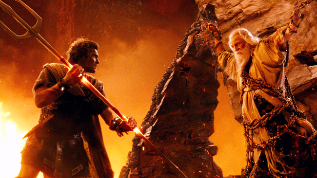 "<p>Perseus (Sam Worthington) and Zeus (Liam Neeson) reunite in 'Wrath of the Titans."" (Photo courtesy of Warner Bros).</p>"