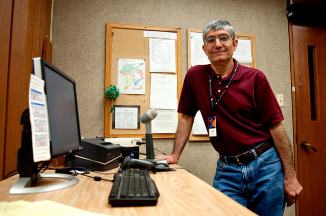 <p>Sasan Rezaie, the man behind the voice of the Perry-Casteñeda Library, was born and raised in Iran before obtaining his mathematics degree at UT.</p>