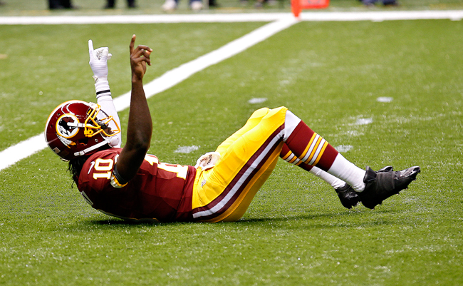 <p>Former Baylor quarterback Robert Griffin III launched his NFL career with a win against the New Orleans Saints last Sunday.</p>