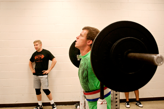 <p>Linguistics graduate student Jörn Klinger powerlifts at Gregory Gym Tuesday evening. The Longhorn Powerlifting team includes two world record holders who performed at the 2012 IPF Junior World Championship in Poland.</p>