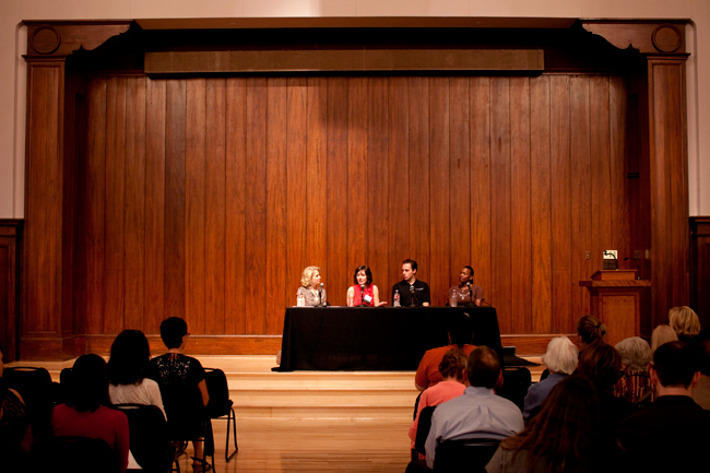 <p>The School of Human Ecology presented a panel of UT alumni, including Marrisa Duswalt, Beverly Kearney and Garrett Weber-Gale. They discussed the choices and motivation of healthy living.</p>