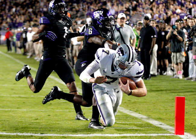 <p>Kansas State, led by Collin Klein, defeated TCU 23-10 on Saturday, helping to vault the Wildcats to the No. 1 ranking in the BCS for the first time in school history. </p>