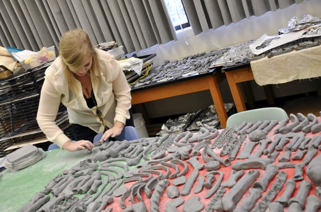 <p>Clay bones made by UT students and community members will be on display this Tuesday in the South Mall. The bones were made for the project One Million Bones which promotes awareness of genocide in Africa.Photo courtesy of Jenny Nguyen.</p>