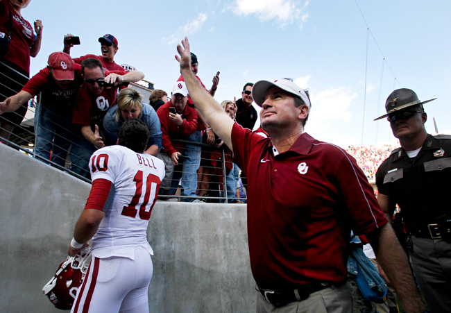 <p>Head coach Bob Stoops and his Sooners fell short of a BCS bowl, and will face Texas A&M in the Cotton Bowl on Jan. 4.</p>