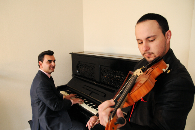 <p>Accomplished violin player David Kovacs and pianist Attila Balogh travel the world aboard cruise ships, performing their mix of classical and traditional European music. Kovacs and Balogh leave for the West Carribean and Europe February 17 as part of their 6th contract with the cruise line.</p>