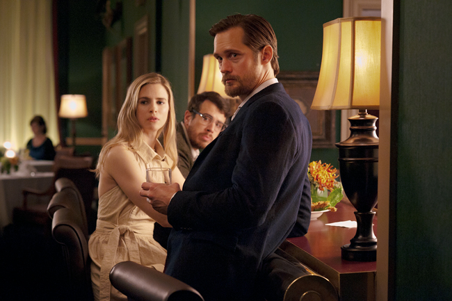 """<p>Sarah (Brit Marling) and Benji (Alexander Skarsgard) in """"The East,"""" a movie about eco-terrorism.Photo courtesy of Fox Searchlight Pictures.</p>"""