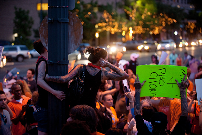 2013-07-08_Pro-Life_Protest_&_Pro_Choice_March_Erika