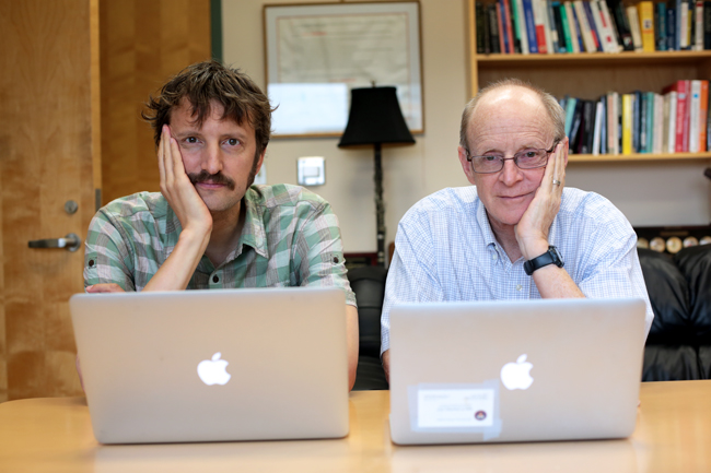 <p>Psychology professors Sam Gosling and James Pennebaker are currently teaching one of UT's first Synchronous Massive Online Courses, or SMOCs.</p>
