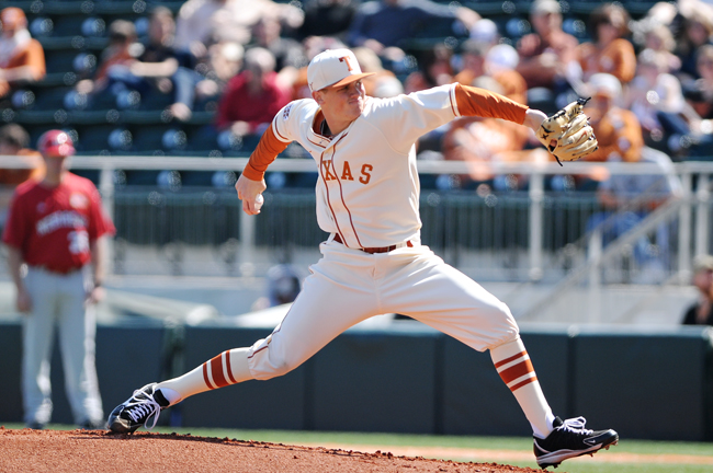 <p>Junior pitcher Parker French will be the Longhorns' opening game starter against California on Friday. French will be the No. 1 Texas starter for the second consecutive season after posting a 4-5 record and a 2.68 ERA as a sophomore last year.</p>