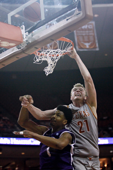 <p>Filling in for the injured junior forward Jonathan Holmes, sophomore forward Connor Lammert made the most of the opportunity, recording a double-double in a 66-54 win over TCU at Tuesday night's game.</p>