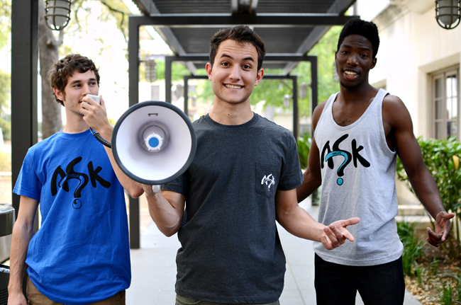 <p>Inkuire co-founders Noah Barshop and Sam Hamad, along with Chris Omenihou, marketing and engagement director and economics junior, hope to increase face-to-face interactions between strangers through their clothing brand. Inkuire's objective is to bring strangers together and encourage meaningful conversation without the use of social media. </p>