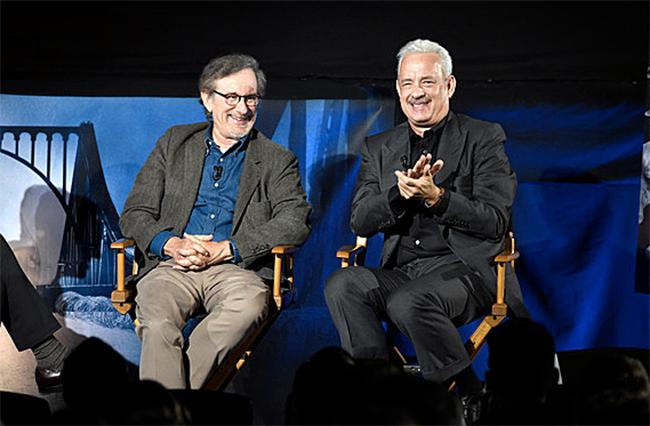 Spielberg%26HanksQ%26A_Photo_CourtesyofKevinMazur-GettyImagesforWaltDisneyStudios