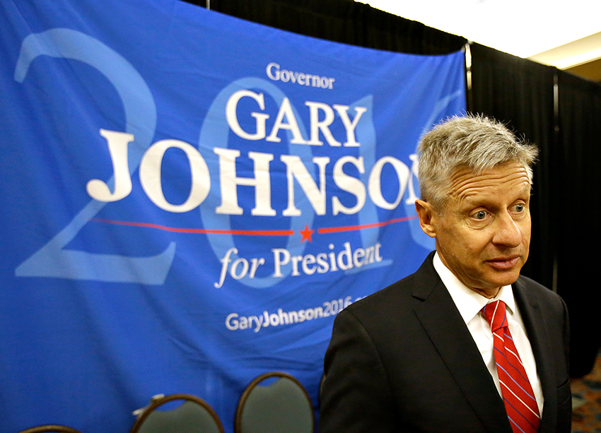 Gary Johnson AP PHOTO