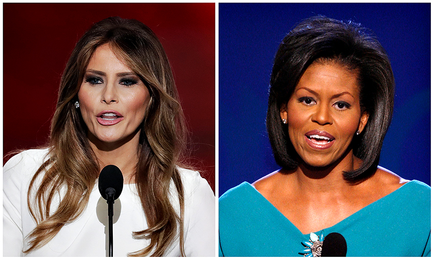 Melania+and+Michelle+AP+Photo