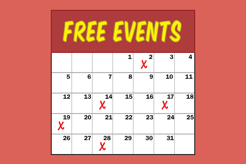 Free Monthly Events logo
