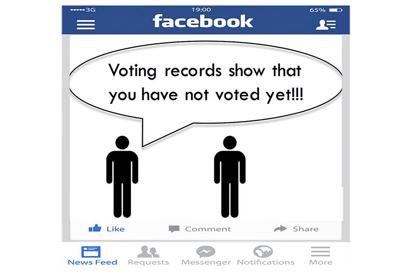 Facebook voter mobilization court Katherine Haenschen