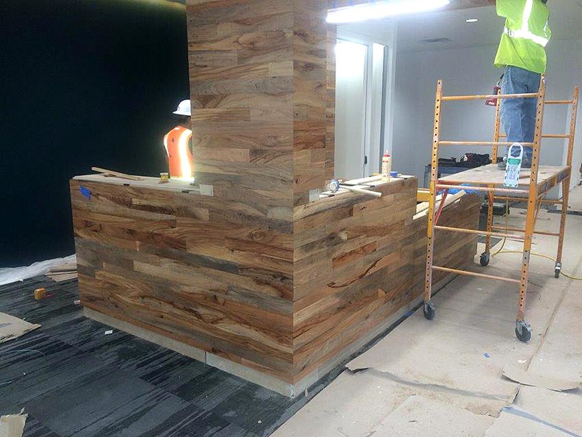 repurposed wood court Jim Carse