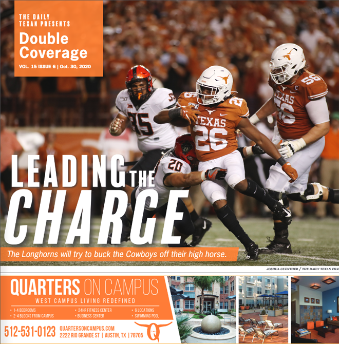 The+Daily+Texan+Double+Coverage+newspaper+October+30%2C+2020.