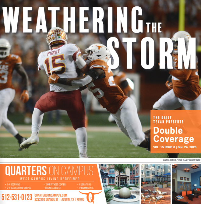 The Daily Texan Double Coverage newspaper November 24, 2020.