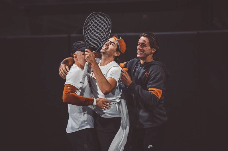 Texas men's tennis caps off undefeated March with win over No. 6 Texas A&M