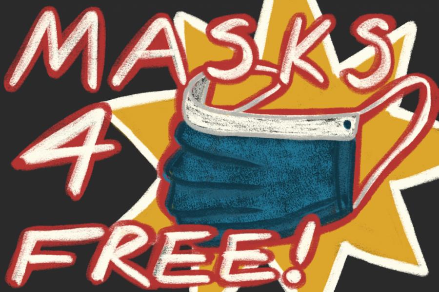 free_masks_on_campus_distribution