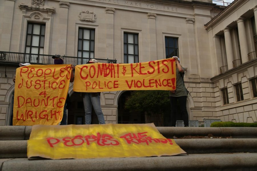 Students hold protest demanding justice for those killed by police brutality