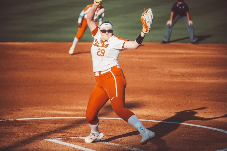 Sophomore+Shea+O%E2%80%99Leary+throws+complete+game+shutout+in+Big+12+opener%2C+dominates+Texas+Tech+in+5-0+win