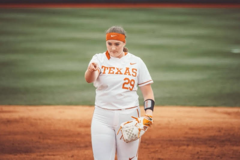 Texas+softball+pitcher+Shea+O%E2%80%99Leary+shuts+down+Texas+Tech+to+sweep+series