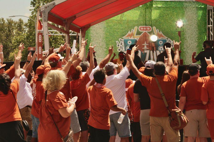Longhorns fans enjoy Bevo Boulevard events ahead of the Texas football teams home opener on Sept. 4.