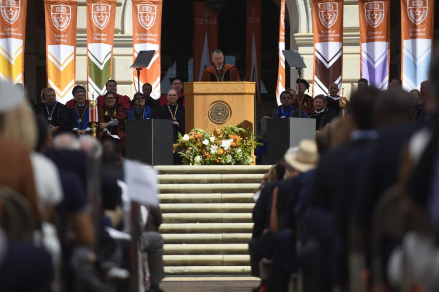 UT President Jay Hartzell vows to increase UT's ranking, promote diversity at State of the University Address