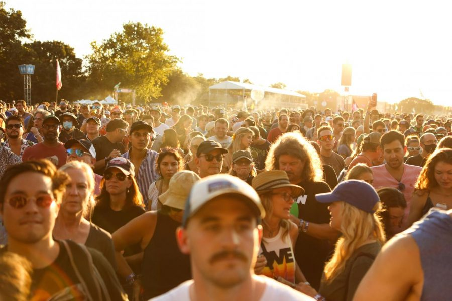 A crowd gathers at Weekend 1 of the Austin City Limits Music Festival on Oct. 1.